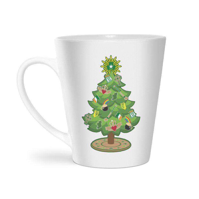 Irish Christmas Tree Accessories Latte Mug by Brian Harms