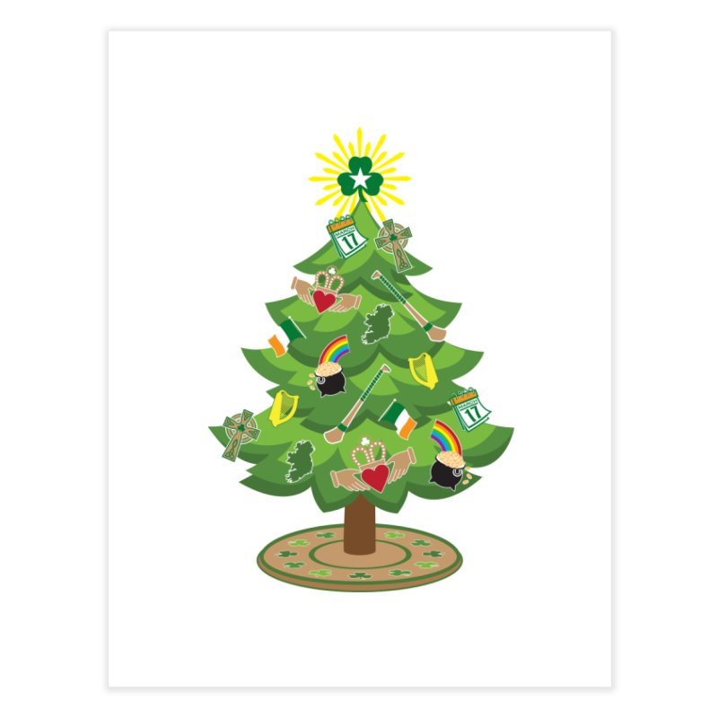 Irish Christmas Tree Home Fine Art Print by Brian Harms