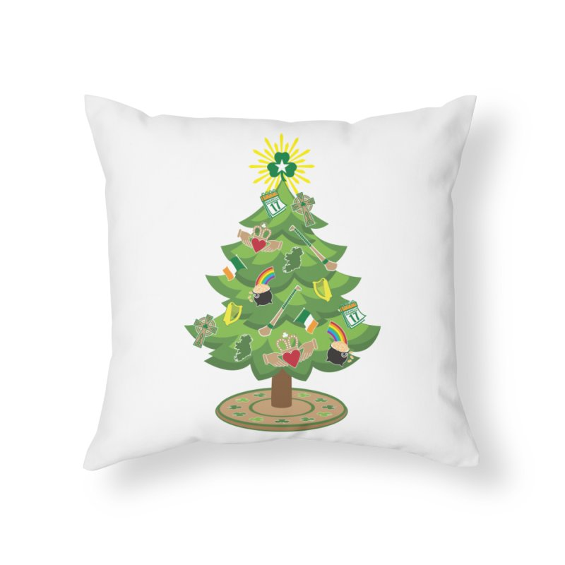 Irish Christmas Tree Home Throw Pillow by Brian Harms