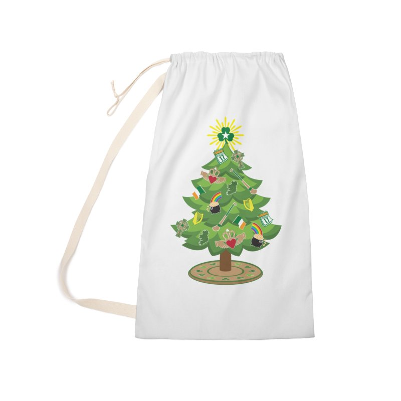 Irish Christmas Tree Accessories Laundry Bag Bag by Brian Harms