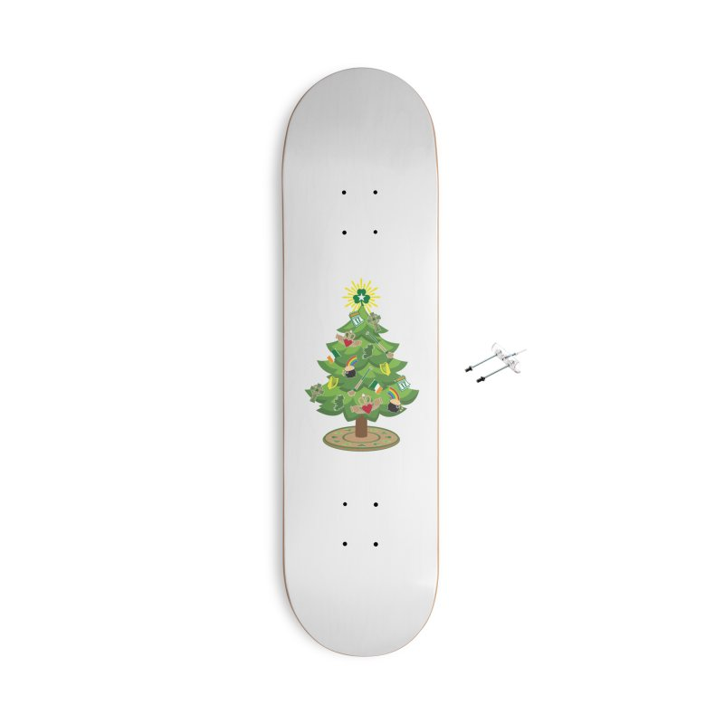Irish Christmas Tree Accessories With Hanging Hardware Skateboard by Brian Harms