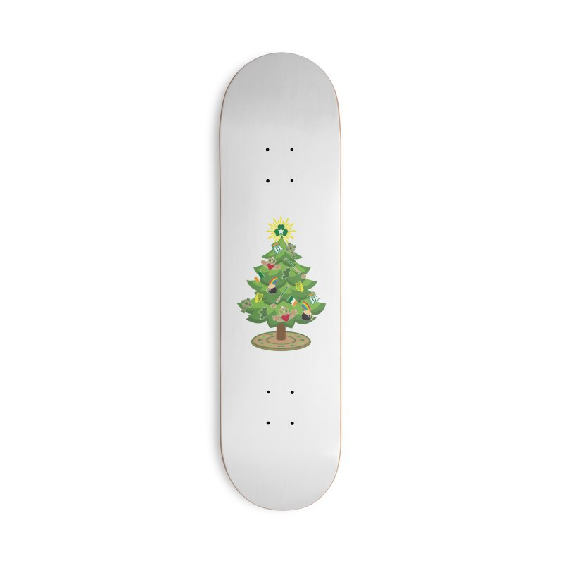Irish Christmas Tree Accessories Deck Only Skateboard by Brian Harms