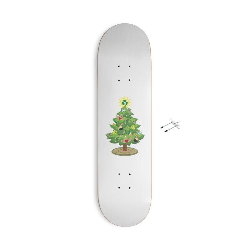 Irish Christmas Tree Accessories Skateboard by Brian Harms