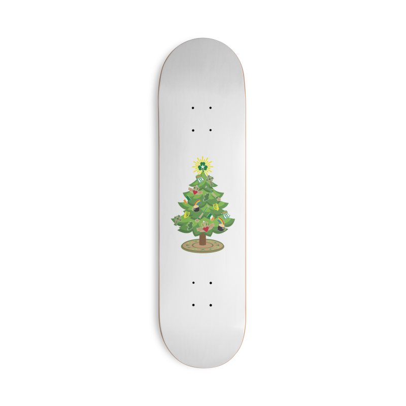 Irish Christmas Tree Accessories Skateboard by Brian Harms