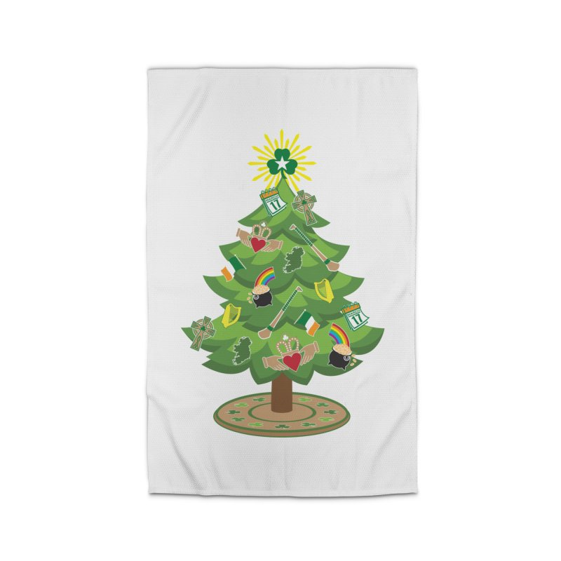 Irish Christmas Tree Home Rug by Brian Harms