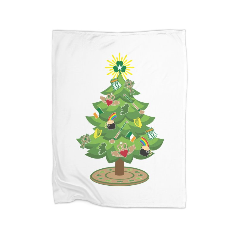 Irish Christmas Tree Home Fleece Blanket Blanket by Brian Harms