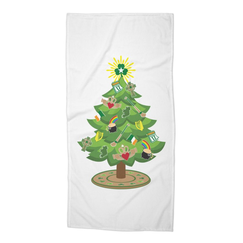 Irish Christmas Tree Accessories Beach Towel by Brian Harms