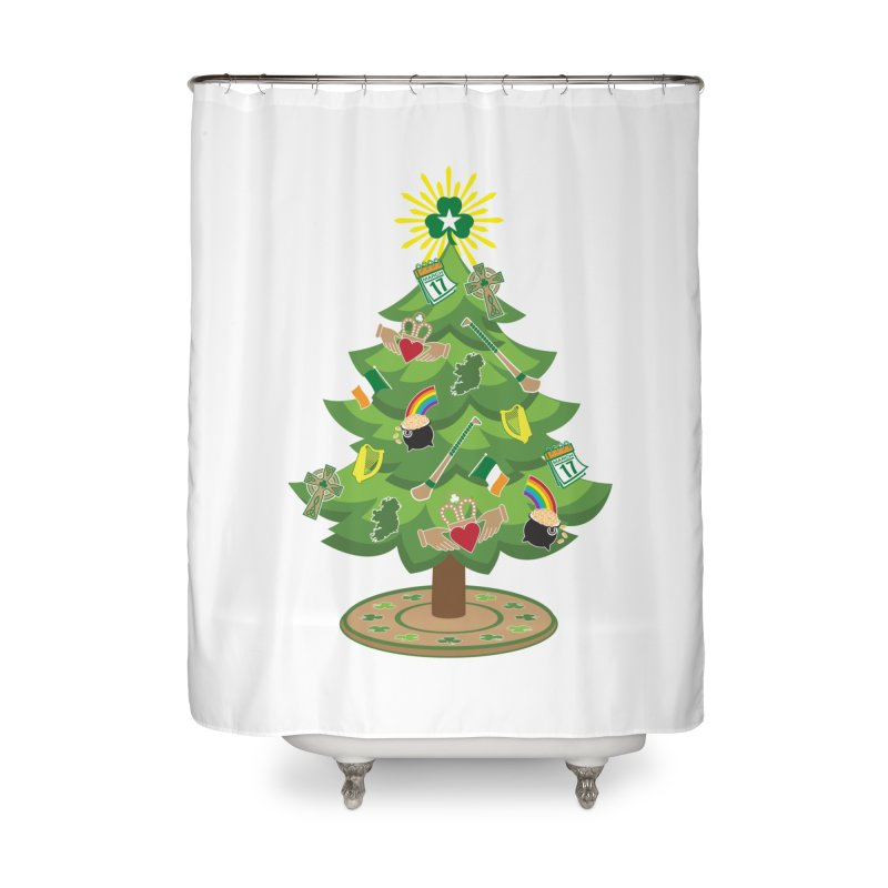 Irish Christmas Tree Home Shower Curtain by Brian Harms