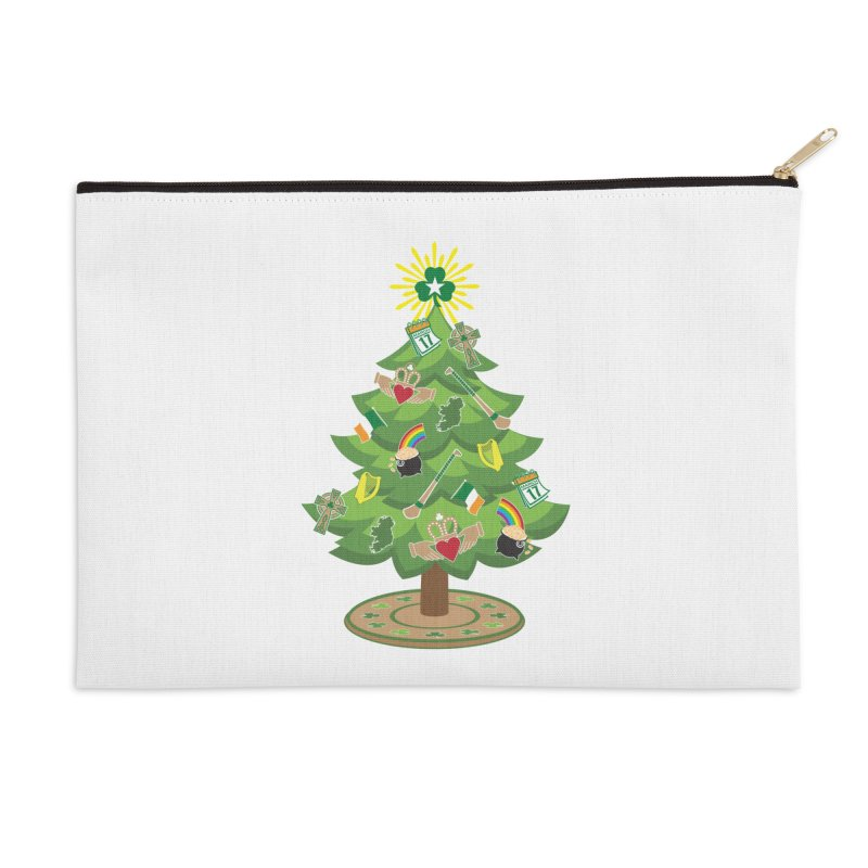 Irish Christmas Tree Accessories Zip Pouch by Brian Harms
