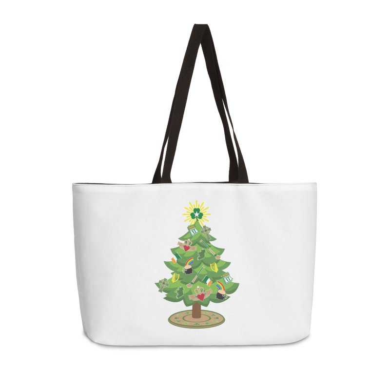 Irish Christmas Tree Accessories Weekender Bag Bag by Brian Harms