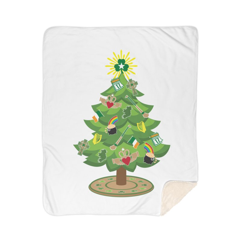 Irish Christmas Tree Home Sherpa Blanket Blanket by Brian Harms