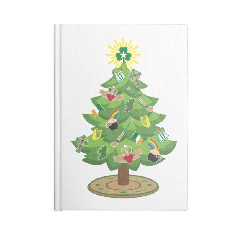 Irish Christmas Tree Accessories Notebook by Brian Harms