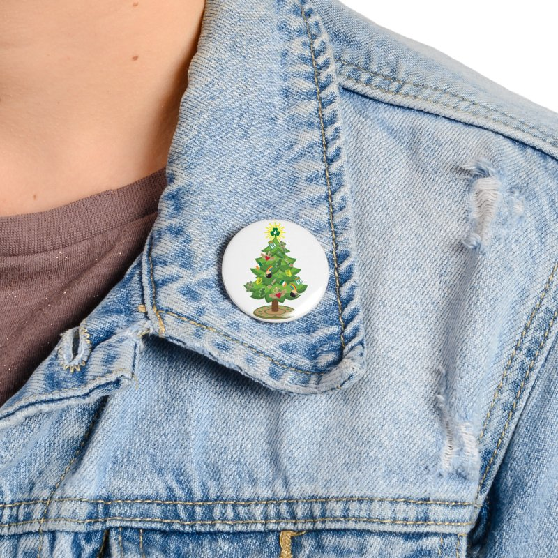 Irish Christmas Tree Accessories Button by Brian Harms