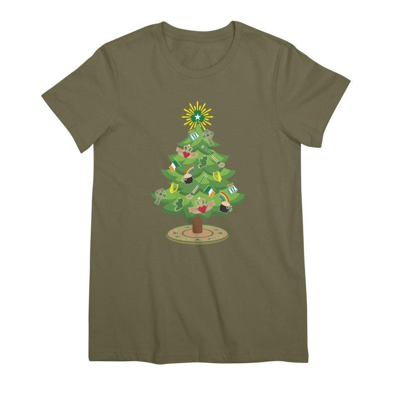 Irish Christmas Tree Women's Premium T-Shirt by Brian Harms