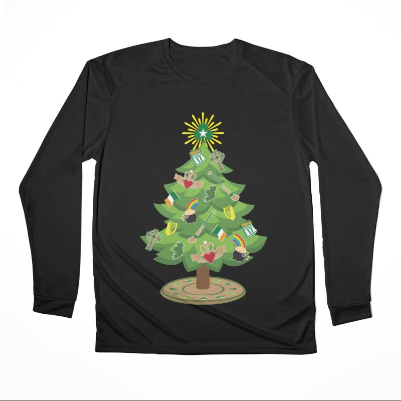 Irish Christmas Tree Women's Performance Unisex Longsleeve T-Shirt by Brian Harms