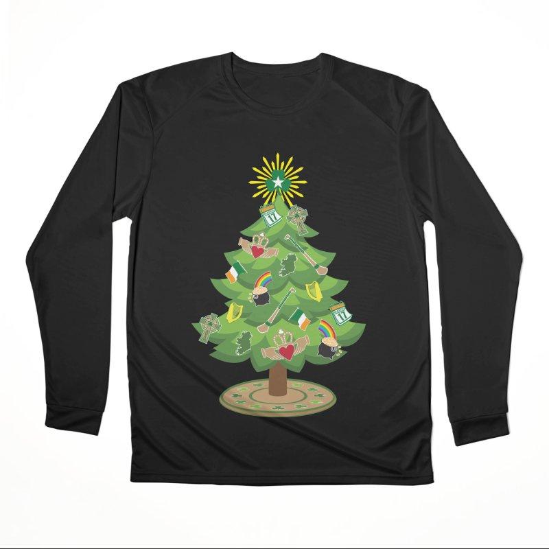 Irish Christmas Tree Men's Performance Longsleeve T-Shirt by Brian Harms