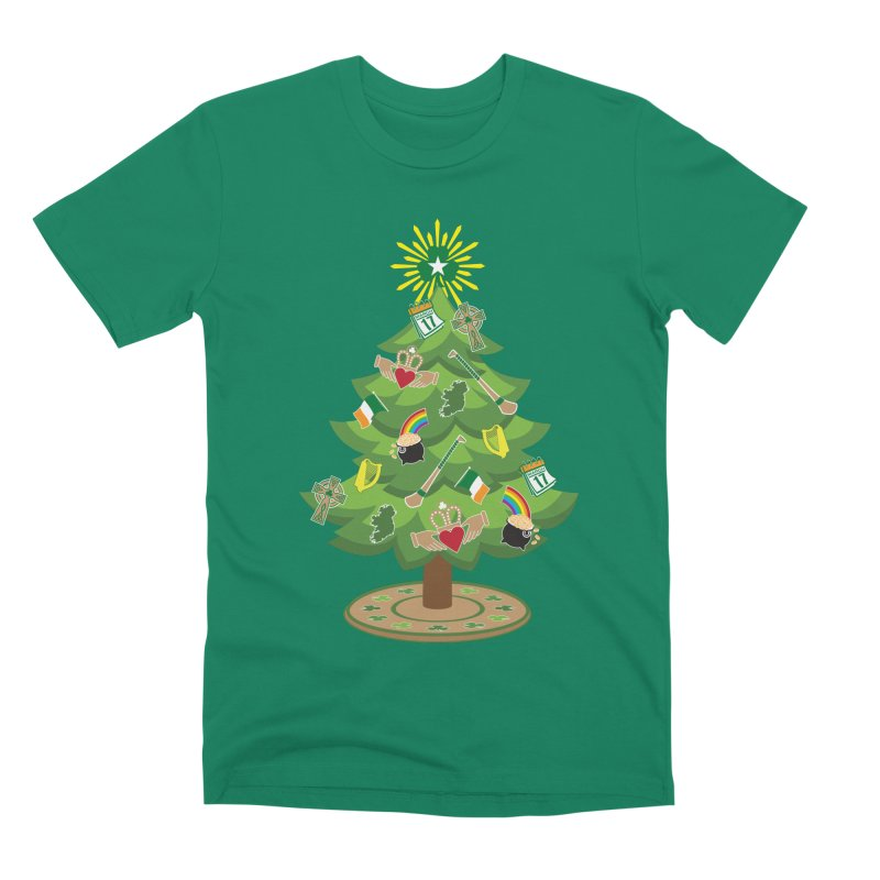 Irish Christmas Tree Men's Premium T-Shirt by Brian Harms