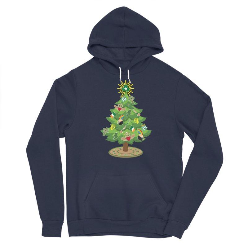 Irish Christmas Tree Men's Sponge Fleece Pullover Hoody by Brian Harms