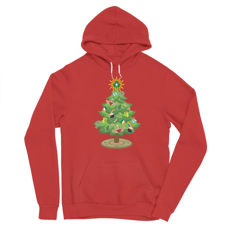 Irish Christmas Tree Men's Pullover Hoody by Brian Harms