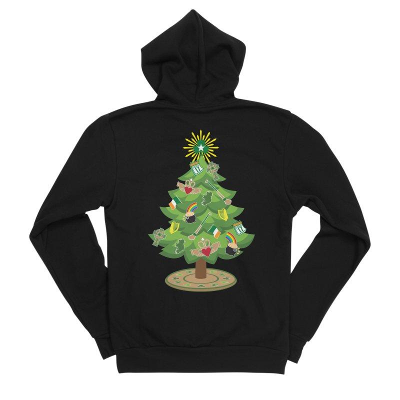 Irish Christmas Tree Women's Sponge Fleece Zip-Up Hoody by Brian Harms