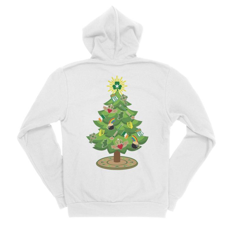 Irish Christmas Tree Men's Sponge Fleece Zip-Up Hoody by Brian Harms