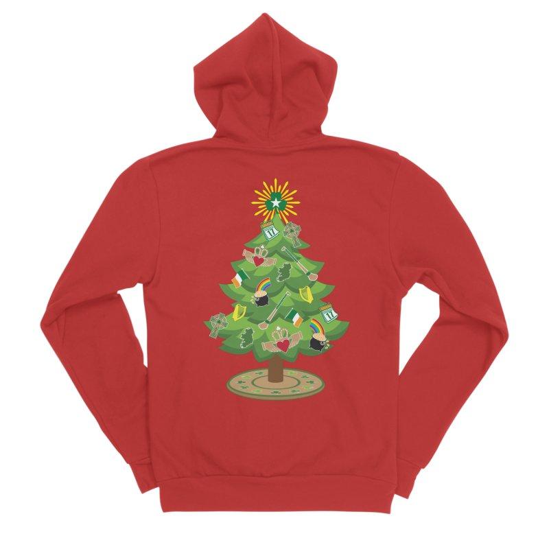 Irish Christmas Tree Women's Zip-Up Hoody by Brian Harms
