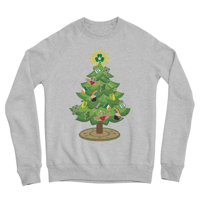 Irish Christmas Tree Men's Sponge Fleece Sweatshirt by Brian Harms