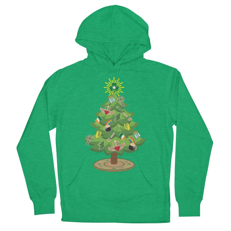 Irish Christmas Tree Women's French Terry Pullover Hoody by Brian Harms