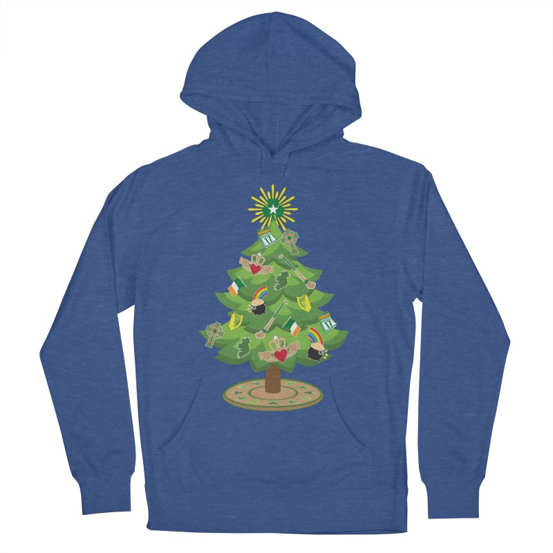 Irish Christmas Tree Men's French Terry Pullover Hoody by Brian Harms