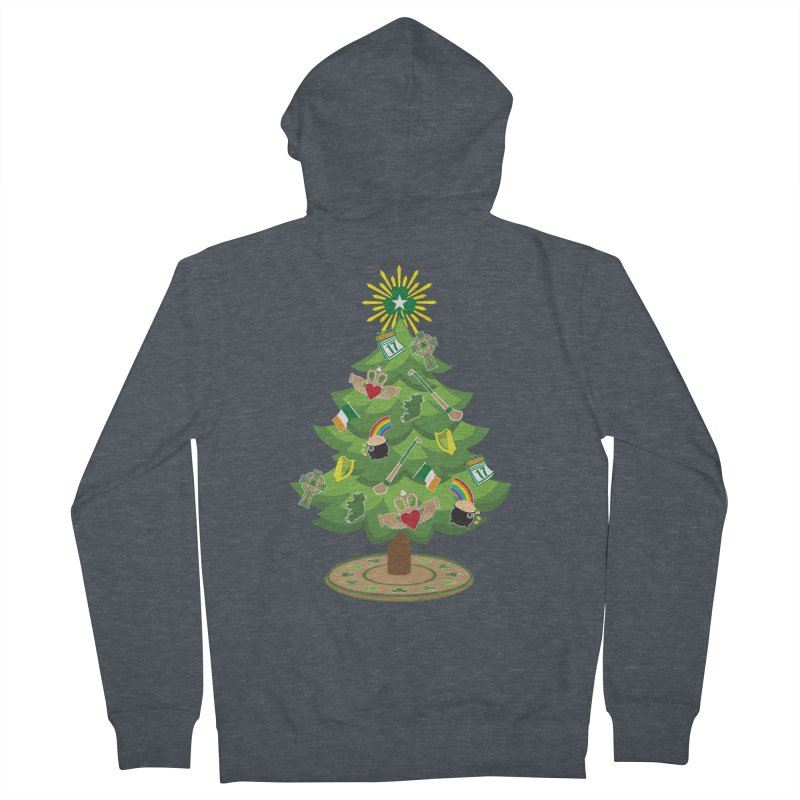 Irish Christmas Tree Women's French Terry Zip-Up Hoody by Brian Harms