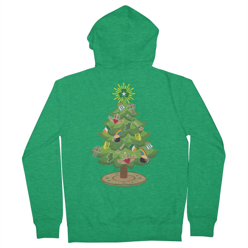 Irish Christmas Tree Men's French Terry Zip-Up Hoody by Brian Harms