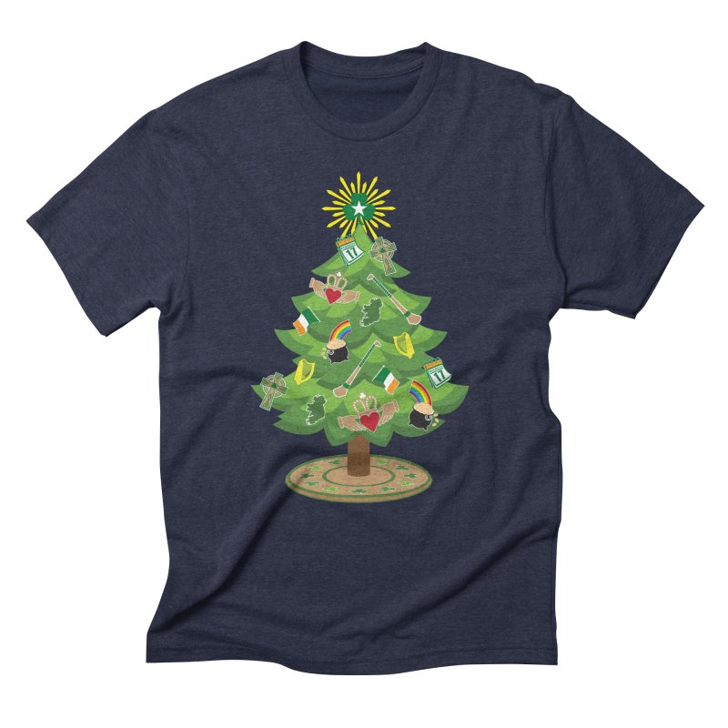 Irish Christmas Tree Men's Triblend T-Shirt by Brian Harms