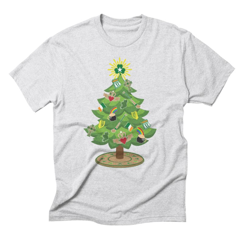 Irish Christmas Tree Men's Triblend T-Shirt by Brian Harms