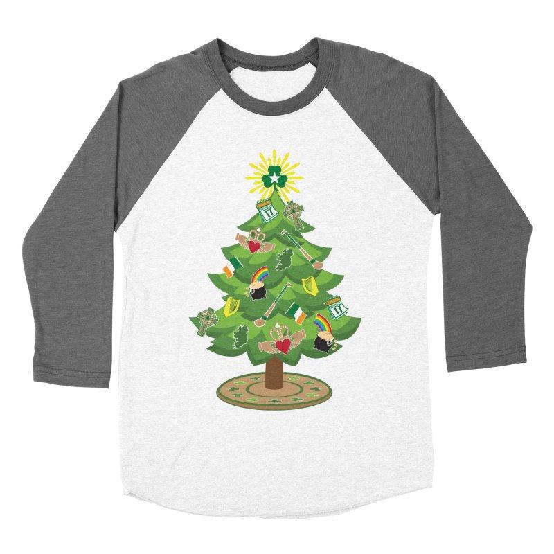 Irish Christmas Tree Women's Baseball Triblend Longsleeve T-Shirt by Brian Harms