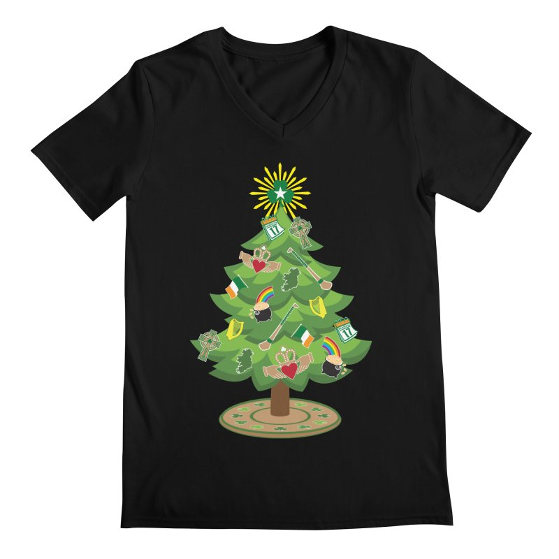 Irish Christmas Tree Men's Regular V-Neck by Brian Harms