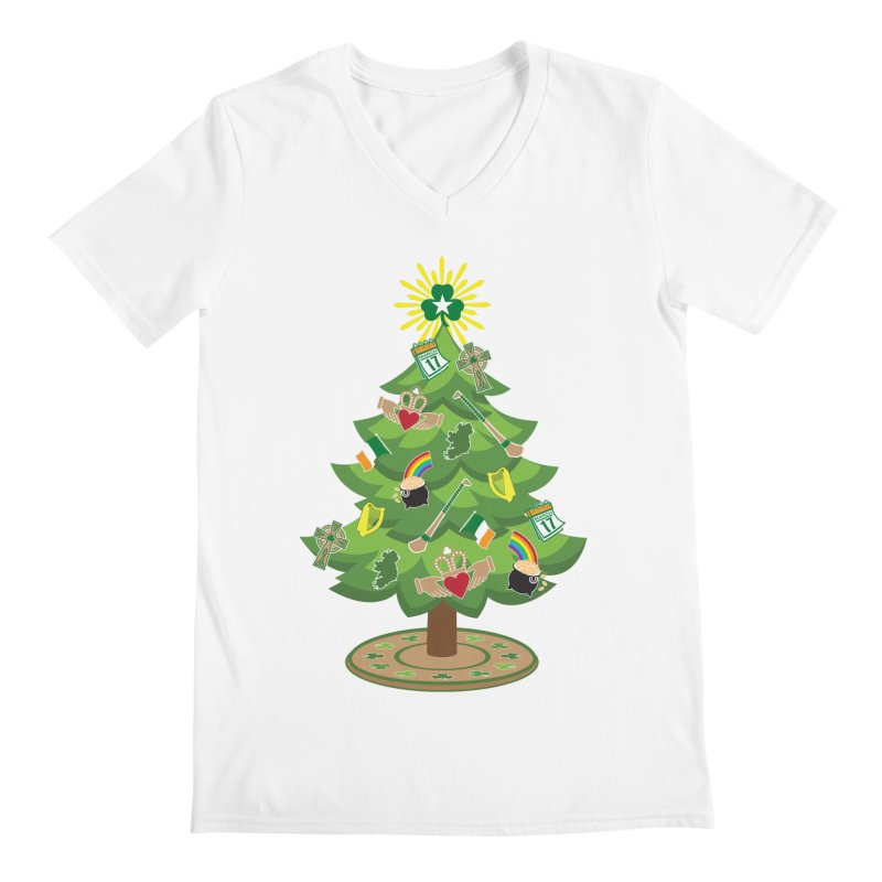 Irish Christmas Tree Men's V-Neck by Brian Harms