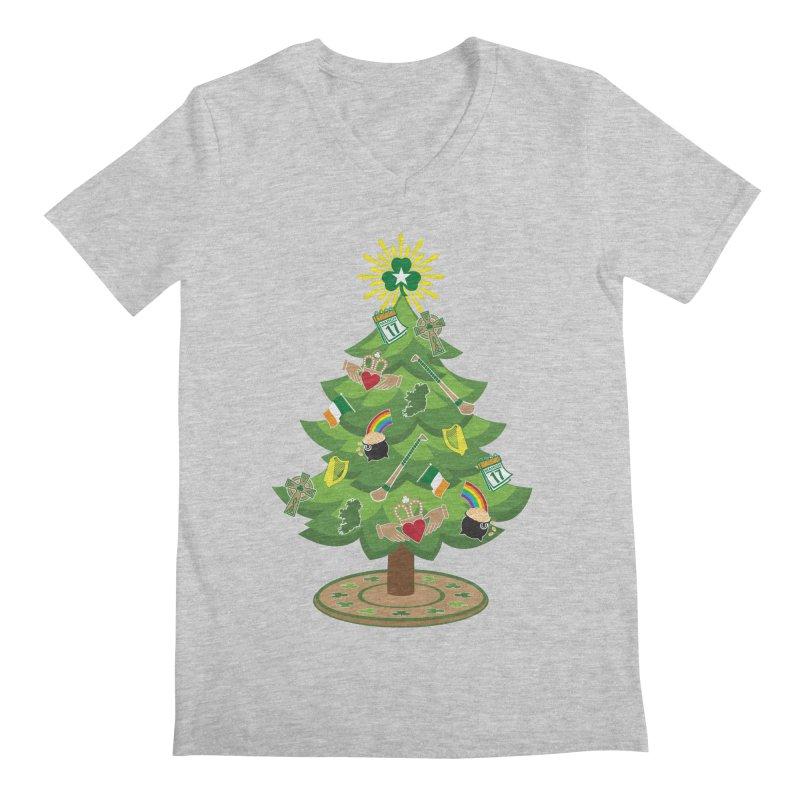 Irish Christmas Tree Men's Regular V-Neck by Brian Harms