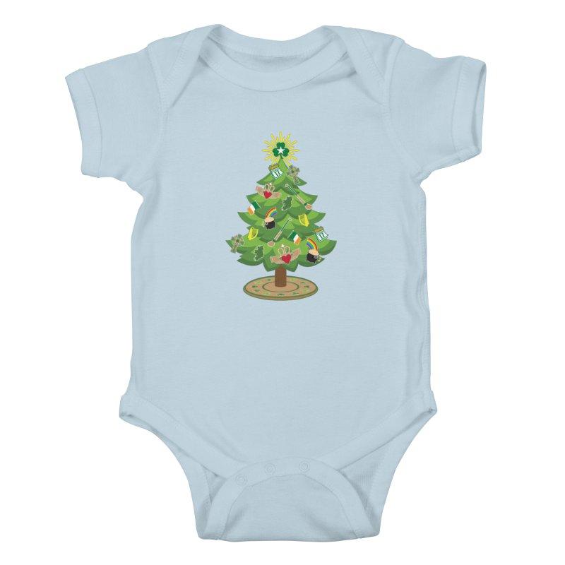 Irish Christmas Tree Kids Baby Bodysuit by Brian Harms