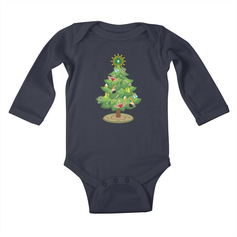 Irish Christmas Tree Kids Baby Longsleeve Bodysuit by Brian Harms