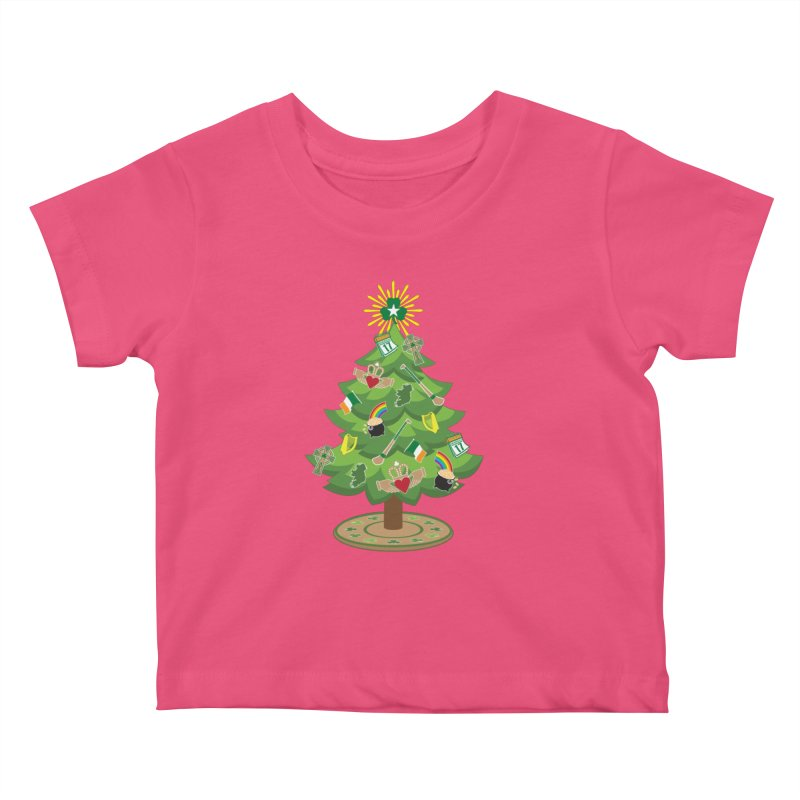 Irish Christmas Tree Kids Baby T-Shirt by Brian Harms