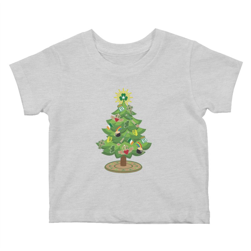 Irish Christmas Tree Kids Baby T-Shirt by Brian Harms