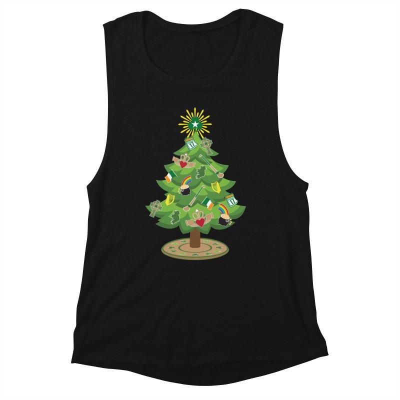 Irish Christmas Tree Women's Muscle Tank by Brian Harms