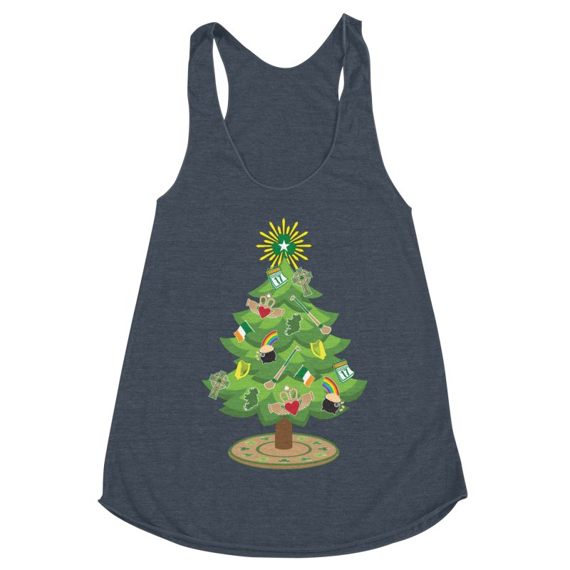 Irish Christmas Tree Women's Racerback Triblend Tank by Brian Harms