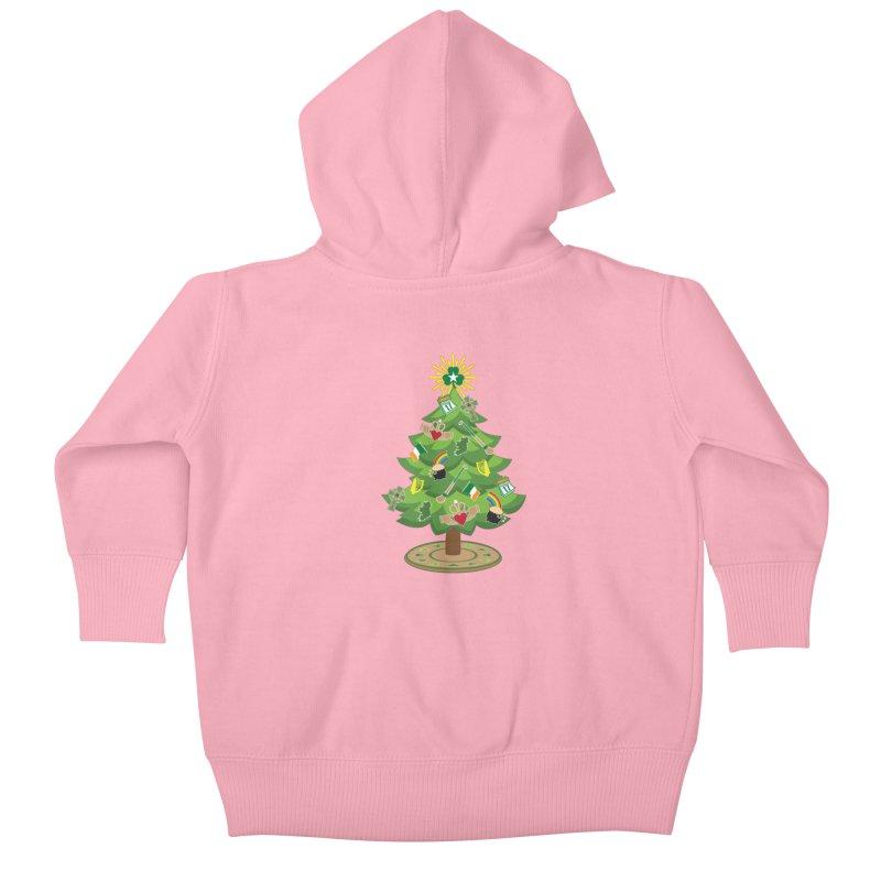 Irish Christmas Tree Kids Baby Zip-Up Hoody by Brian Harms