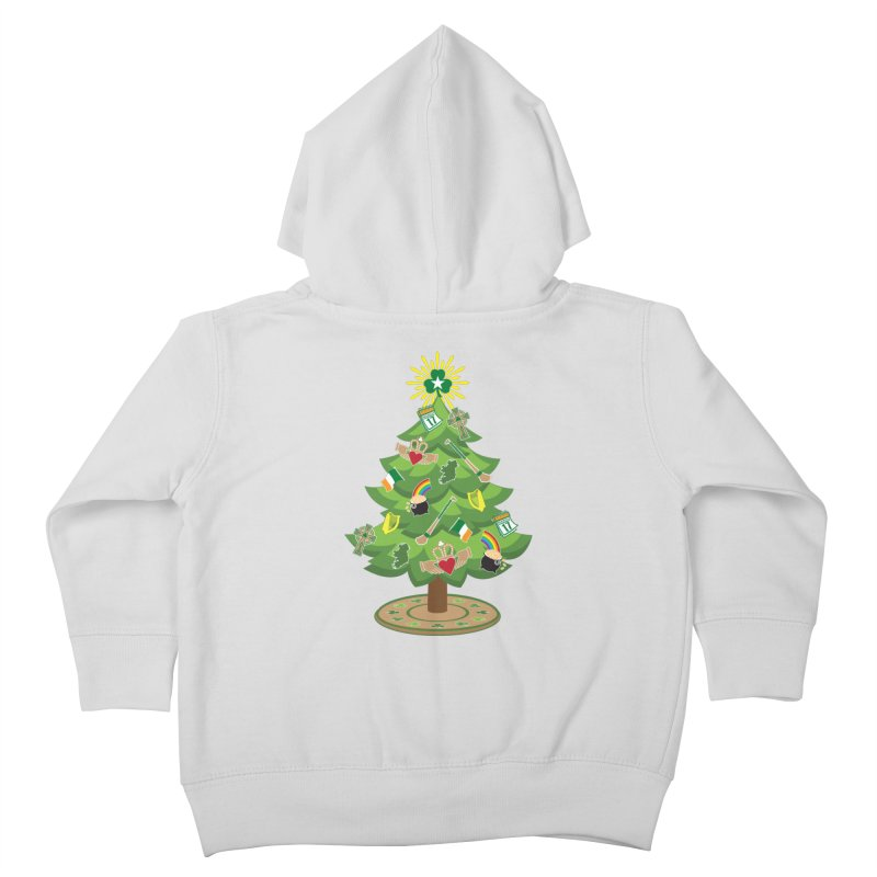 Irish Christmas Tree Kids Toddler Zip-Up Hoody by Brian Harms