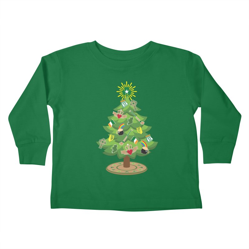 Irish Christmas Tree Kids Toddler Longsleeve T-Shirt by Brian Harms