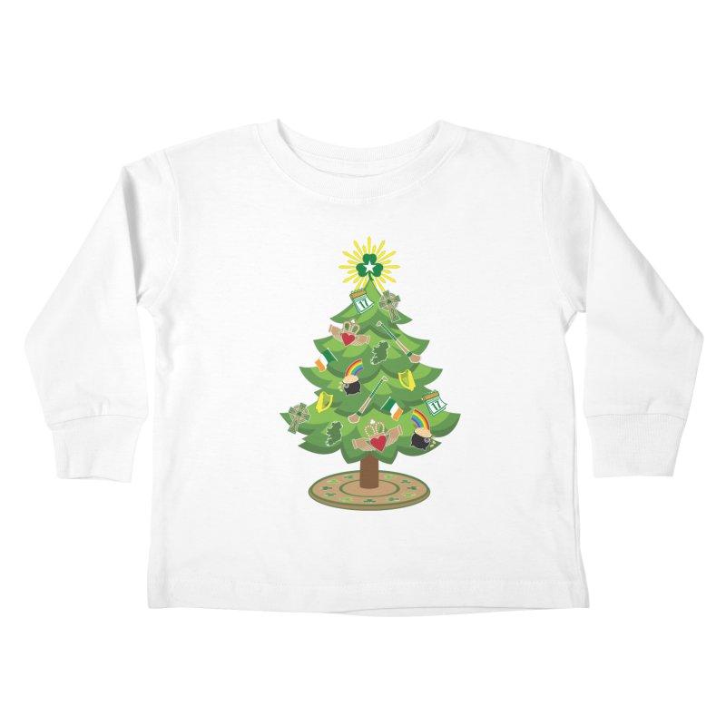 Irish Christmas Tree Kids Toddler Longsleeve T-Shirt by Brian Harms