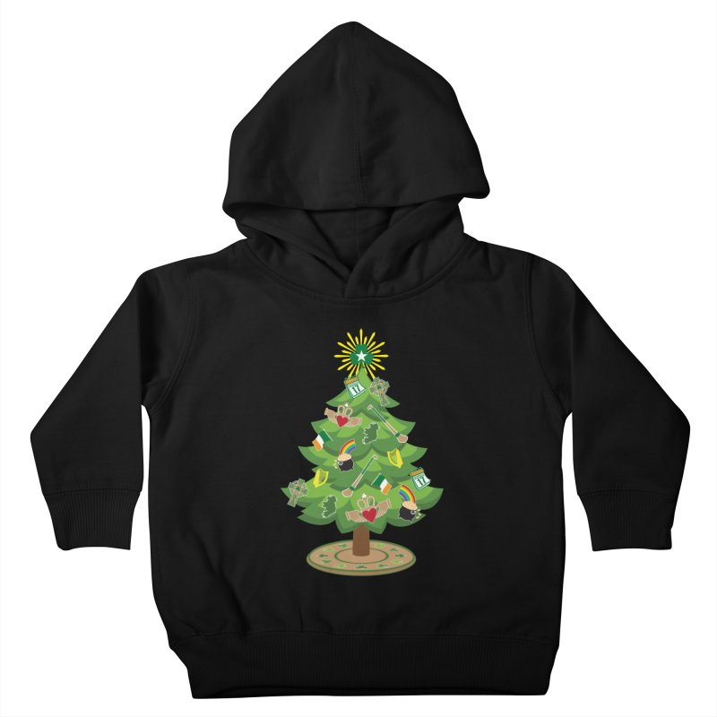 Irish Christmas Tree Kids Toddler Pullover Hoody by Brian Harms