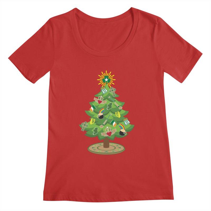 Irish Christmas Tree Women's Regular Scoop Neck by Brian Harms