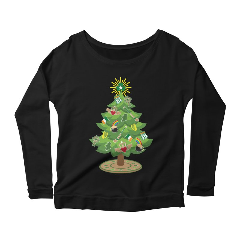 Irish Christmas Tree Women's Scoop Neck Longsleeve T-Shirt by Brian Harms